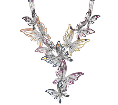 Damiani joaillerie COLLIER BUTTERFLY MASTERPIECE